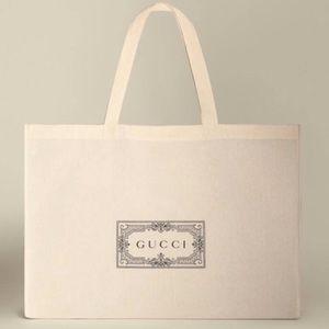 GUCCI Reusable Canvas Shopping Tote